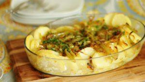 Bacalhau Desfiado com Batatas