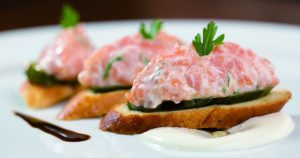 Tartar de Salmão com Cream Cheese